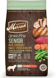 1. Merrick Grain-Free Senior Dog Food